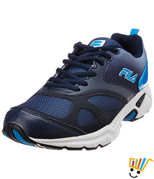 Fila Men Tracker Running Shoes Navy Blue