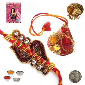 Sending Online Rakhi Gifts India for Bhaiya Bhabhi 181