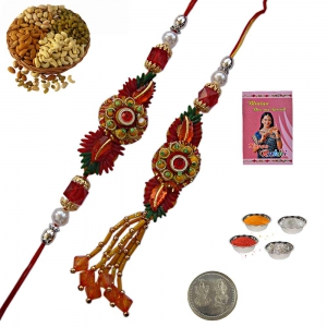 Send Exclusive Bhaiya Bhabhi Lumba Rakhis Gift 202