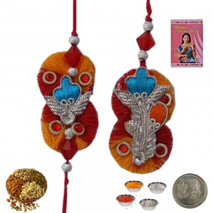 Send Online Bhaiya Bhabhi Exclusive Rakhi Gift 203