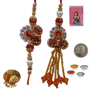 Send Stylish Indian Rakhis Gifts to Bhaiya Bhabhi 204