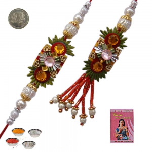 Send Indian Bhaiya Bhabhi Rakhi and Lumba Gift 206