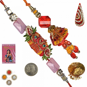 Send Indian Bhaiya Bhabhi Rakhi and Lumba Gift 207