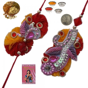 Send Indian Bhaiya Bhabhi Rakhi and Lumba Gift 209