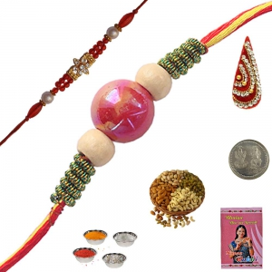 Send India Exclusive Handcrafted Beads Rakhi 143
