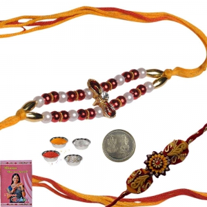 Rakshabandhan Colorful Beads Rakhi for Brother 157