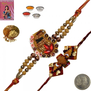 Rakshabandhan Colorful Beads Rakhi for Brother 158