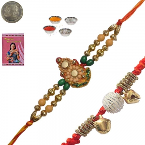 Rakshabandhan Colorful Beads Rakhi for Brother 159