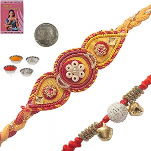 Buy Online Indian Handcrafted Designer Rakhi 164