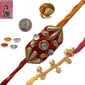 Send Cheap Beautiful Rakhis Indian Festival Gift 172
