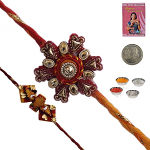 Send Jaipuri Handcrafted Rakhi Gift to Brother 173