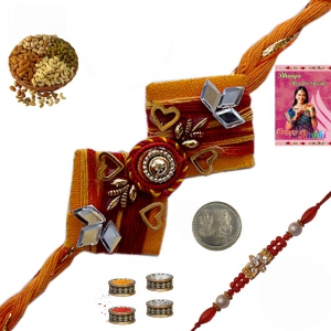 Send Free Online Exquisite Rakhi Gift to Brother 174