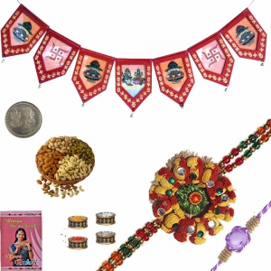 Send Cute Exclusive Rakhee n Door Hanging Gift 175
