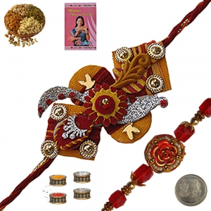 Send Gifts for Brother n Designer Mauli Rakhi 176