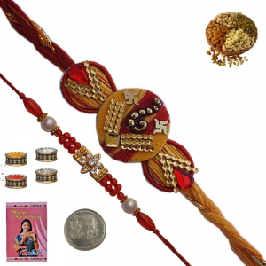 Rajasthani Unique Designer Rakhi Gift for Brother 177