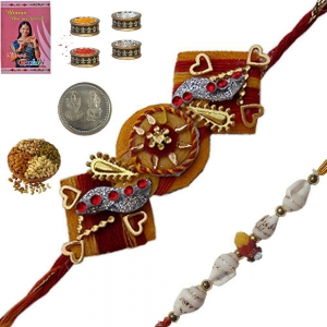 Send Handmade Designer Rakhi Gifts to Brother 178