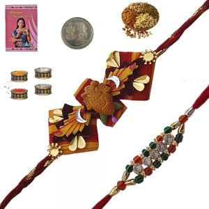 Send Brother Gorgeous Rajasthani Ethnic Rakhis 184