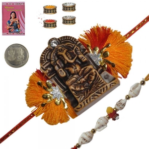 Send Brother Handcrafted Rakhi Festival Gifts 191