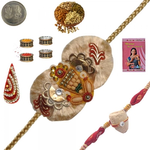 Send Brother Handcrafted Rakhi Festival Gifts 193