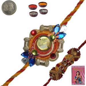 Beautiful Handcrafted Rakhee Gifts to Brother 136