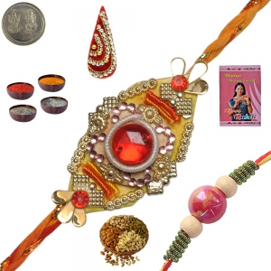 Rajasthani Handcrafted Rakhee Gifts to Brother 138