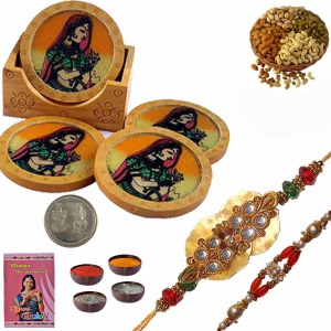 Handcrafted Tea Coasters n Excellent Rakhi Gift 111A