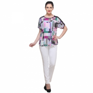 Varanga Multicolour Print Block Top KFAWWL1008
