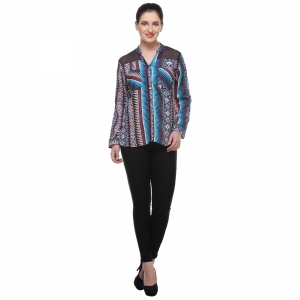 Varanga Abstact Multicolour Print Shirt KFAWWL1009