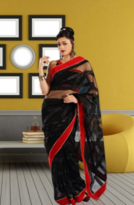 Shubham Fashions Black Beauty  Sarees SF-SB-1004