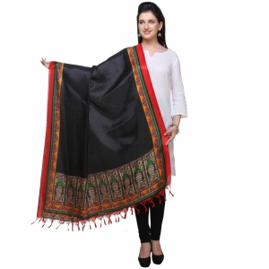 Varanga Black And Red Designer Dupatta KFBG116