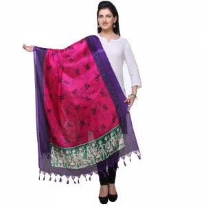 Varanga Purple And Pink Designer Dupatta KFBG121