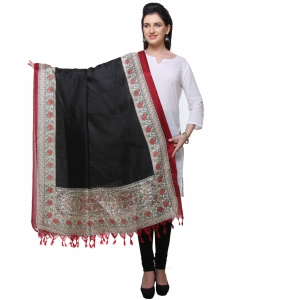 Varanga Black And Red Designer Dupatta KFBG124