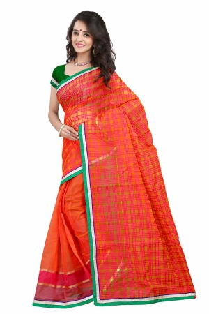 7 Colors Lifestyle Pink And Yellow Coloured Super Net Embroidered Saree AFKSR1016ALYM