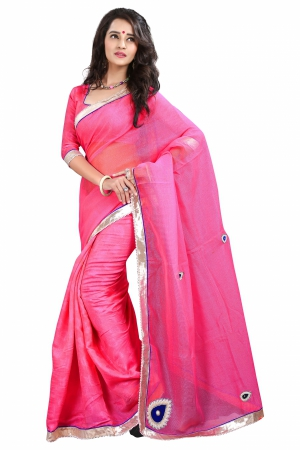 7 Colors Lifestyle Gajri Coloured Super Net Embroidered Saree AFKSR123BALYM