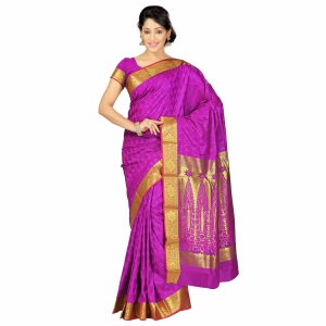 7 Colors Lifestyle Multi Coloured Pure Polyster Jacquard Embroidered Saree SR8101PVJD4