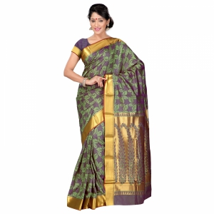 7 Colors Lifestyle Multi Coloured Pure Polyster Jacquard Embroidered Saree SR8103SGVJD4