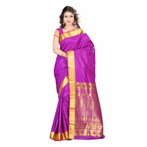 7 Colors Lifestyle Multi Coloured Pure Polyster Jacquard Embroidered Saree SR8110PVJD4