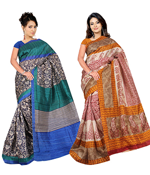A G Lifestyle Bhagalpuri Silk Special Collection of 2 pieces combo AGB5187A-88A