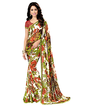 A G Lifestyle Multi Saree With Unstitched Blouse MYR1003