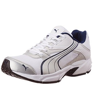 Puma Mens White Blue Mesh Running Shoes