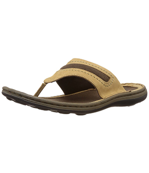 Woodland Mens Leather Hawaii Sandals
