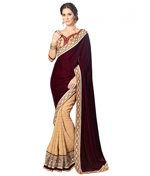 Designer Embroidered Thread Work Saree VLS-45-2A