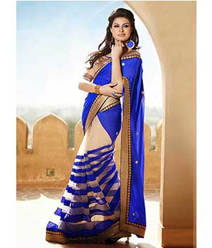 Digital Print And Embroidered Lace Saree JSP-62-13695