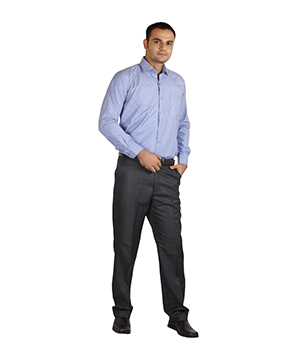 Ambition Blue Slim Fit Formal Shirt SF-AMB-10035-1-36A By Shubham Fashions