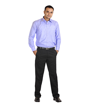 Ambition Purple Self Design Slim Fit Formal Shirt SF-AMB-3072-8-15 by Shubham Fashions