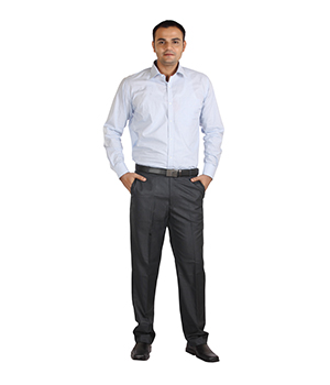 Italino Mens Small Chequered Regular Formal Shirt SF-ITL-1038 by Shubham Fashions