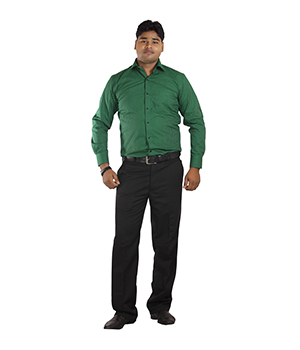 Italino Green Small Chequered Slim Fit Formal Shirt SF-ITL-1043 by Shubham Fashions