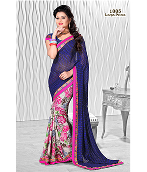 Digital Printed Lace Saree VLS-51-1883