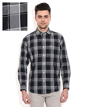 John Players Black Casuals Shirt