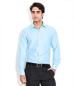 John Players Navy Slim Fit Shirt